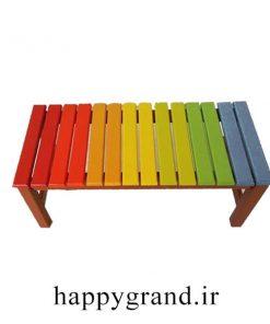 نیمکت چوبی هفت رنگ